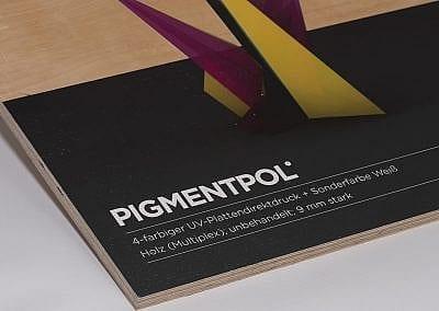 Plattendirektdruck auf Holzplatte (Multiplex)
