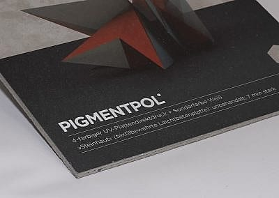 Plattendirektdruck auf textilbewehrte Betonplatte